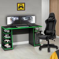 Kit Bela Cadeira Gamer MoobX Thunder Deluxe + Mesa Gamer XP