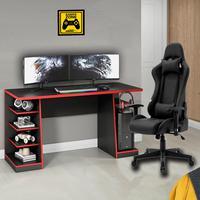 Kit Bela Cadeira Gamer Thunder Deluxe + Mesa Gamer XP