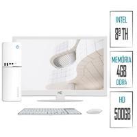 Computador Skill SlimPC Intel G4930 8ª Geração, 4GB, DDR4, HD 500GB, Intel UHD 610, Monitor 15.6´, LED, HDMI, Branco