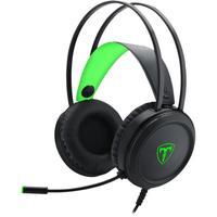 Headset Gamer T-Dagger Ural, Preto e Verde - T-RGH202