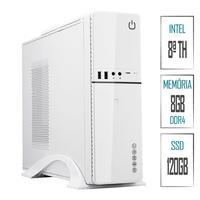 Computador Skill SlimPC Intel Celeron G4930 8ª Geração, 8GB, DDR4, SSD 120GB, Intel UHD 610, HDMI, Full HD