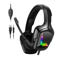Headset Gamer K20 Onikuma com Microfone, Entrada P2 + USB, Compatível com PS4, Xbox One, Celular e PC, Preto