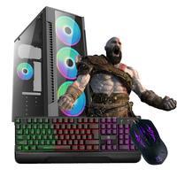 Computador Gamer Work Shop com Processador Intel Core i3-540 3.60GHz, 8GB de Memória Ram, SSD 120GB, Placa de Vídeo Nvidia GeForce GT730, Entrada HDMI e VGA, Windows 10 com Teclado Gamer, Mouse Gamer e Caixinha de Som