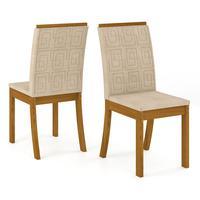 Conjunto de 4 Cadeiras P/ Sala de Jantar Kesha