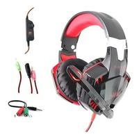 Headset Gamer com Microfone Knup, Vermelho - Kp-455a
