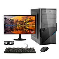 Computador Completo Corporate Asus 4° Gen I3 8gb Hd 3 Tb Dvdrw Monitor 19
