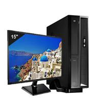 Mini Computador Icc Sl1887sm15 Intel Dual Core 8gb HD 240gb Ssd Monitor 15 Windows 10