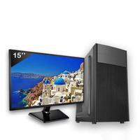 Computador Completo Icc Intel Core I3 8gb Hd 500gb Windows 10 Monitor 15