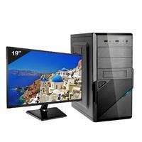 Computador Icc Iv2347dwm19 Intel Core I3 4gb Hd 240gb Ssd Dvdrw Hdmi Monitor Led 19,5 Windows 10