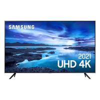 """Smart TV Samsung 55"""" UHD, Processador Crystal 4K, Tela Sem Limites, Visual Livre De Cabos, Bivolt - UN55AU7700GXZD"""