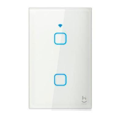 Interruptor Inteligente Touch Para Automação Com 02 Botões Wi-fi Compatível Com Alexa, Google Assistant E Siri - Geonav