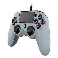 Controle Nacon Wired Compact Controller Grey (com Fio, Cinza) - Ps4 E Pc