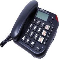 Telefone Com Fio Intelbras Tok Facil Com Teclas Grandes Com Identificador De Chamadas - Preto