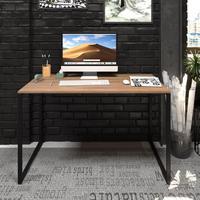 Mesa Para Escritório Diretor Estilo Industrial Vintage   Tam: 120x60 cor: Lamina Dourada Eco