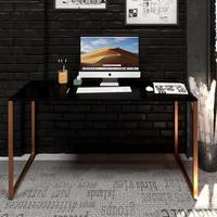 Mesa Para Escritório Diretor Estilo Industrial  Vintage   Tam: 120x60  cor: Preto Com Cobre Eco
