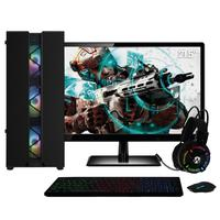 Pc Gamer Completo Amd Ryzen 3 (placa De Vídeo Radeon Vega 8) Monitor 21.5´´ Full Hd 8gb Ddr4 Ssd 120gb Hd 1tb 500w Skill Cool