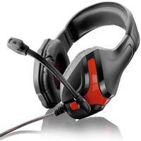 Fone De Ouvido Multilaser Ph101 Headset Gamer Warrior Harve, Preto E Vermelho