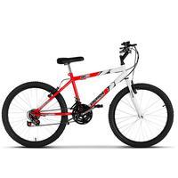 Bicicleta Ultra Aro 24 Masculina Bicolor Freio V Break