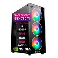 Computador Gamer Fácil, Intel Core I7 9700f, 8gb DDR4, Geforce Gtx 750tI 4gb,  Ssd 240gb, Fonte 500w