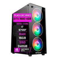 Pc Gamer Fácil, Intel Core I7 9700f 16gb, Geforce Gtx 1650 4gb, Ddr4, Ssd 240gb, Fonte 500w