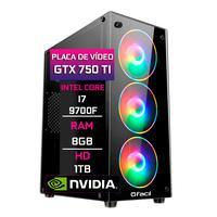 Pc Gamer Fácil, Intel Core I7 9700f, 8gb, Geforce Gtx 750ti 4gb, Ddr4, Hd 1tb, Fonte 500w