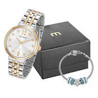 Kit Relógio Feminino Mondaine Prata E Dourado - 99502lpmkbe2k2 - Prata/dourado - Unico
