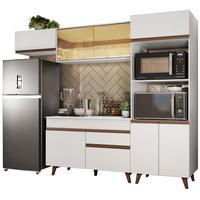 Cozinha Completa Madesa Reims 260001 com Armário e Balcão Branco