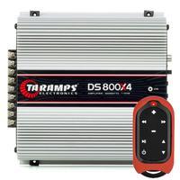 Módulo Amplificador Taramps Ds 800x4 + Controle De Longa Distância Tlc-3000 2 Ohms