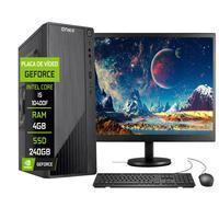 """Computador Completo Fácil Intel Core I5 10400f (décima Geração) 4gb Ddr4 Geforce Nvidia 1gb Ssd 240gb Monitor 19"""" Hdmi"""