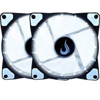 Kit Com 2 Cooler  - Fan Rise Mode, 120mm,  Led Branco - Rm-wn-01-bw