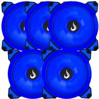 Kit Com 5 Cooler - Fan Rise Mode Galaxy G1 - Led 120mm Azul