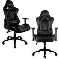 Kit 02 Cadeiras Gamer Office Giratória Com Elevação A Gás Tgc12 H01 Preto - Thunderx3