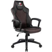 Cadeira Gamer Giratória Com Elevação A Gás Office Holt H01 Preto Vermelho - Fortrek