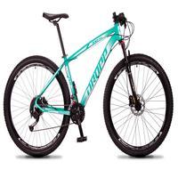 "Bicicleta Aro 29 Dropp Rs1 Pro 27v Alivio, Fr. Hidra E Trava - Verde/branco - 19"" - 19"""