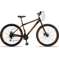 Bicicleta Aro 29 Dropp Sport 21v Garfo Rigido, Freio A Disco - Preto/laranja - 19'' - 19''