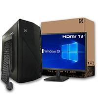 Computador Completo Com Monitor Led 18,5'' Ark Intel Core I3, 4gb, Ssd 120gb, Windows 10