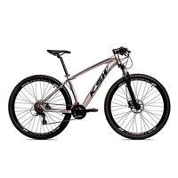 Bicicleta Alumínio Ksw Shimano Altus 24 Vel Freio Hidráulico E Cassete Krw19 - 19'' - Prata/preto