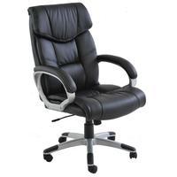 Cadeira De Escritório Home Office Ceuta Giratória Pu Sintético Preta - Gran Belo