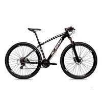Bicicleta Alumínio Ksw Shimano Altus 24 Vel Freio Hidráulico E Suspensão Com Trava Krw18 - 19´´ - Preto/prata