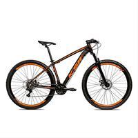 Bicicleta Alumínio Aro 29 Ksw Shimano Tz 24 Vel Ltx Krw20 - 17´´ - Preto/laranja Fosco