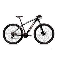 Bicicleta Alumínio Aro 29 Ksw 24 Velocidades Freio  Hidráulico Krw17 - 21´´ - Preto/prata