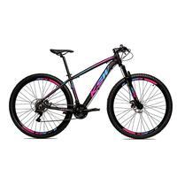 Bicicleta Alum 29 Ksw Cambios Gta 24 Vel A Disco Ltx - 17'' - Preto/azul E Rosa