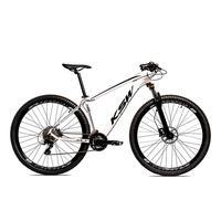 Bicicleta Alumínio Ksw Shimano Altus 24 Vel Freio Hidráulico E Suspensão Com Trava Krw18 - 21´´ - Branco/preto