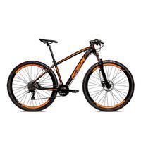 Bicicleta Alum 29 Ksw Shimano 27v A Disco Hidráulica Krw14 - 17´´ - Preto/laranja Fosco