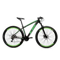 Bicicleta Alum 29 Ksw Cambios Gta 24 Vel A Disco Ltx - 15.5´´ - Preto/verde Fosco