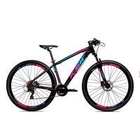 Bicicleta Alumínio Aro 29 Ksw 24 Velocidades Freio Hidráulico Krw17 - 17'' - Preto/azul E Rosa