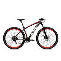 Bicicleta Alumínio Ksw Shimano Altus 24 Vel Freio Hidráulico E Cassete Krw19 - 19´´ - Preto/vermelho