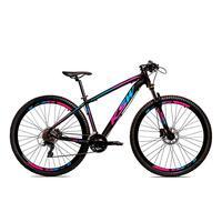 Bicicleta Alum 29 Ksw Shimano 27v A Disco Hidráulica Krw14 - Preto/azul E Rosa - 19''