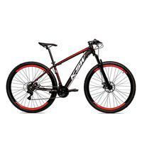 Bicicleta Alumínio Aro 29 Ksw Shimano Tz 24 Vel Ltx Krw20 - 15.5'' - Preto/vermelho