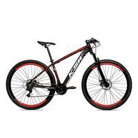 Bicicleta Alumínio Aro 29 Ksw 24 Velocidades Freio A Disco Krw16 - 15.5´´ - Preto/vermelho